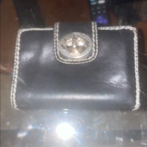 Authentic black leather coach wallet